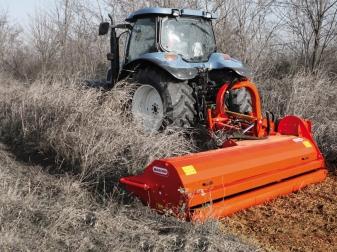 Мулчер с ляво хидравлично рамо за трева и клони до Ø 8-10 см (40-80 к.с.)   модел GIRAFFA L